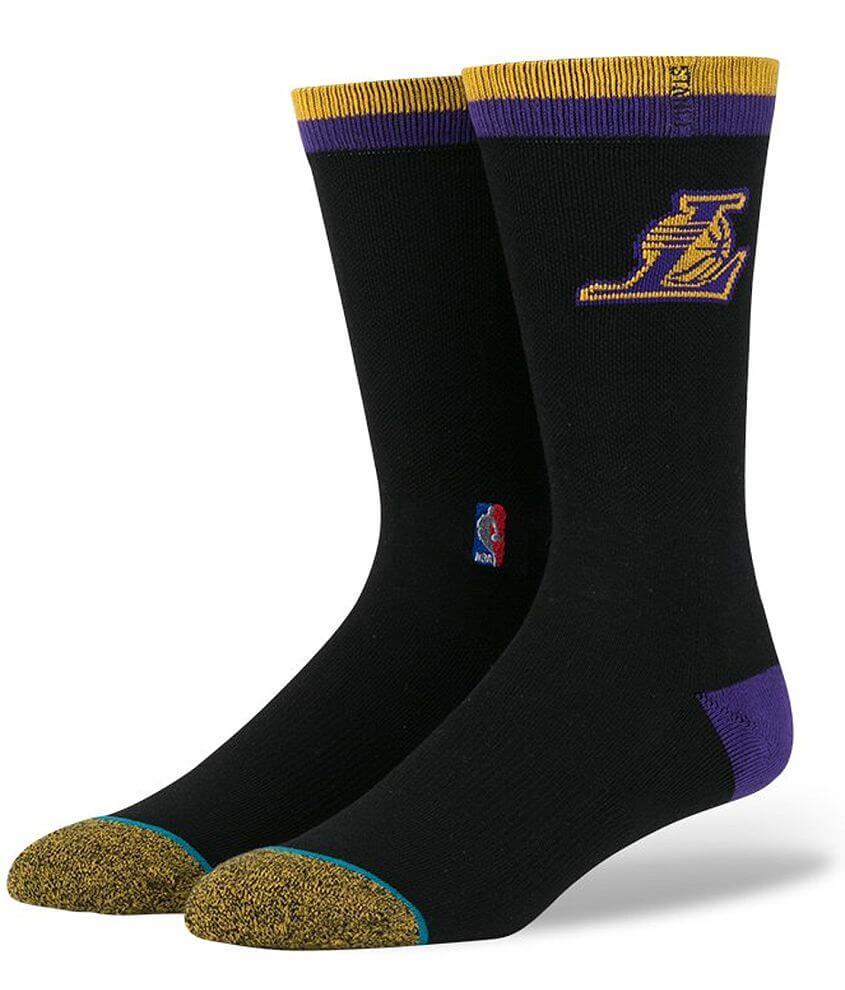 Stance LA Lakers Socks front view