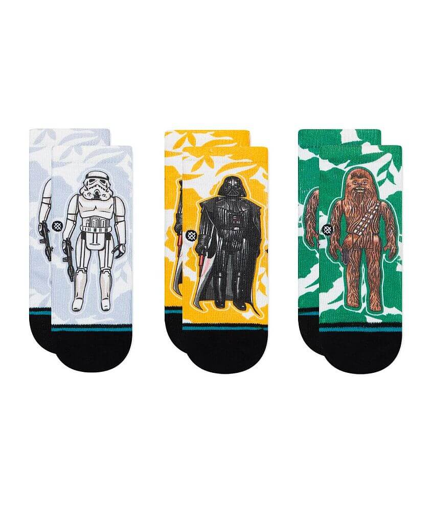 Toddler - Stance Star Wars Space 3 Pack Socks front view