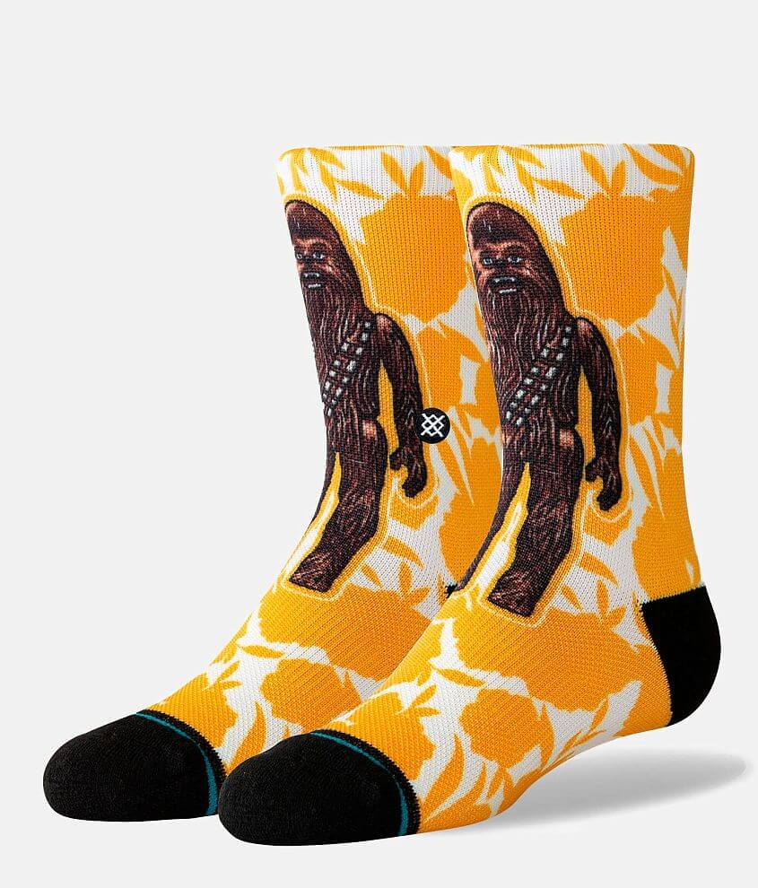 Boys - Stance Star Wars Floral Chewie Socks front view