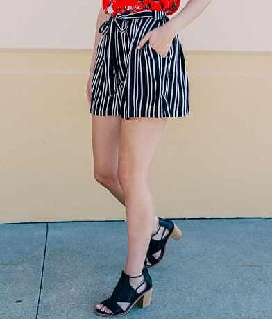 Angie Woven Striped Short