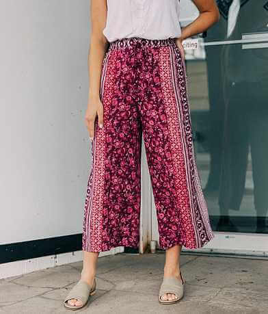 Angie Wide Leg Cropped Pant