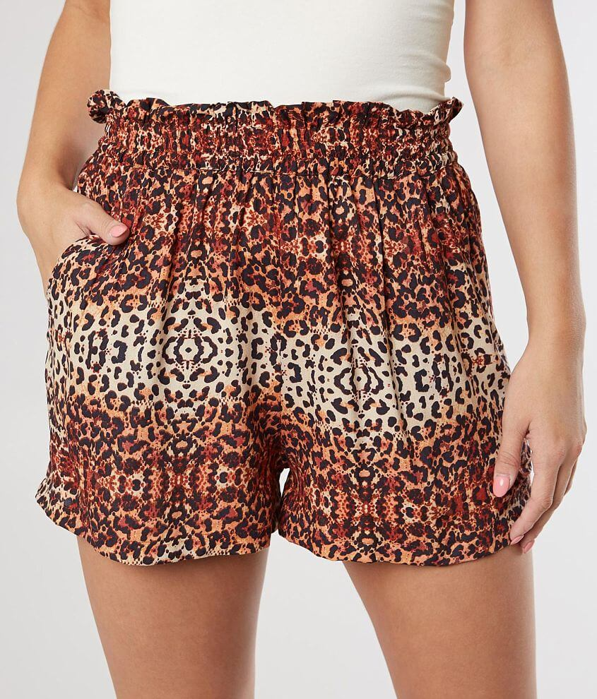Angie Animal Print Fashion Short front view
