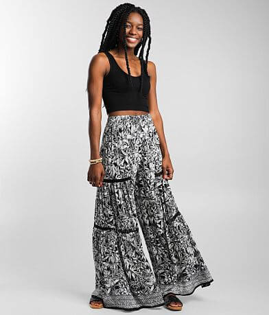 Angie Floral Wide Leg Pant