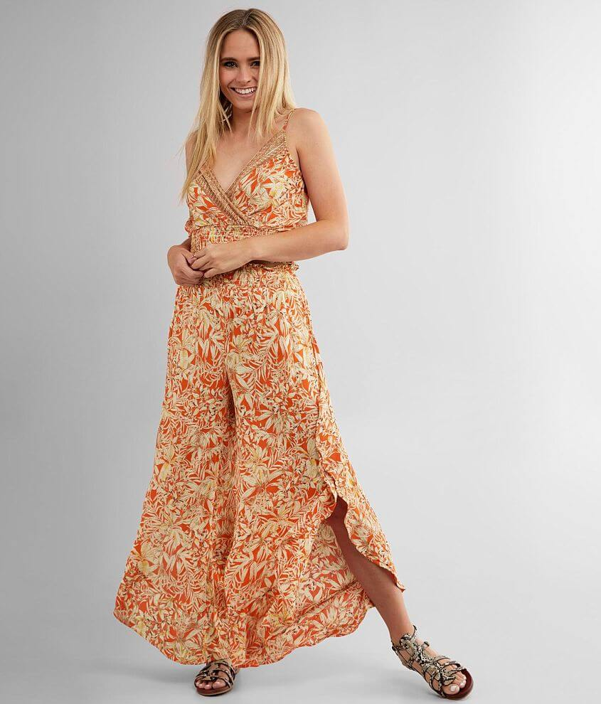 Willow & Root Tropical Floral Pant front view