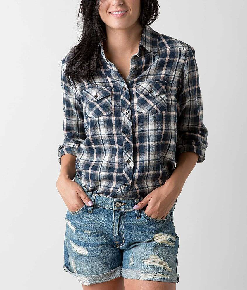 Angie Flannel Shirt front view