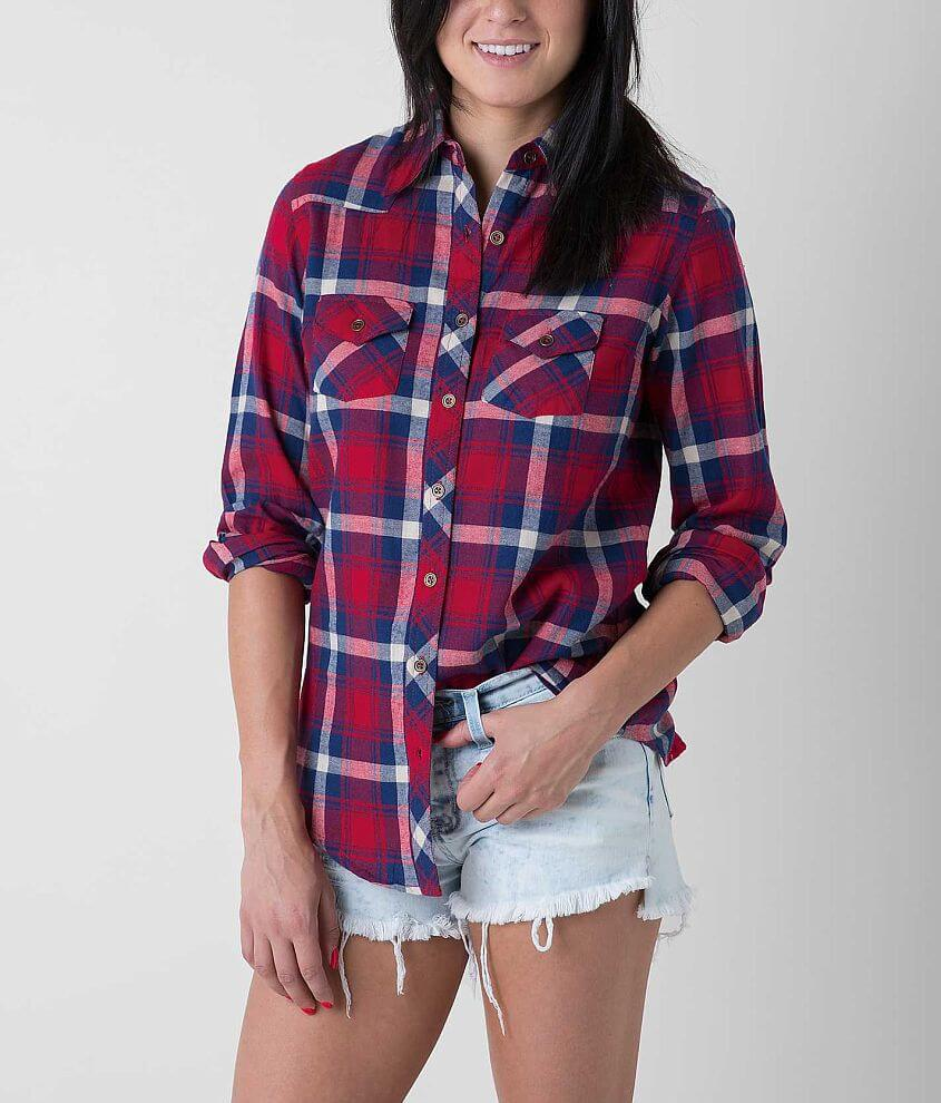 Angie Plaid Shirt front view