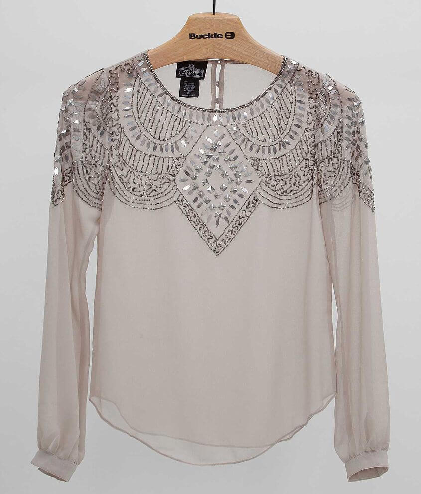 Angie Embellished Top front view
