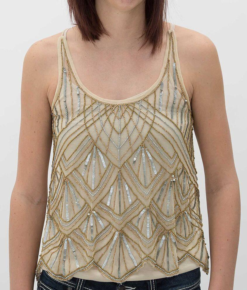 Angie Embellished Tank Top front view