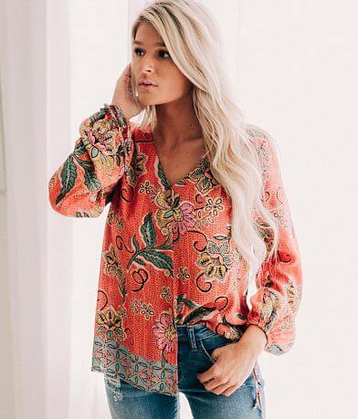 Willow & Root Floral Blouse