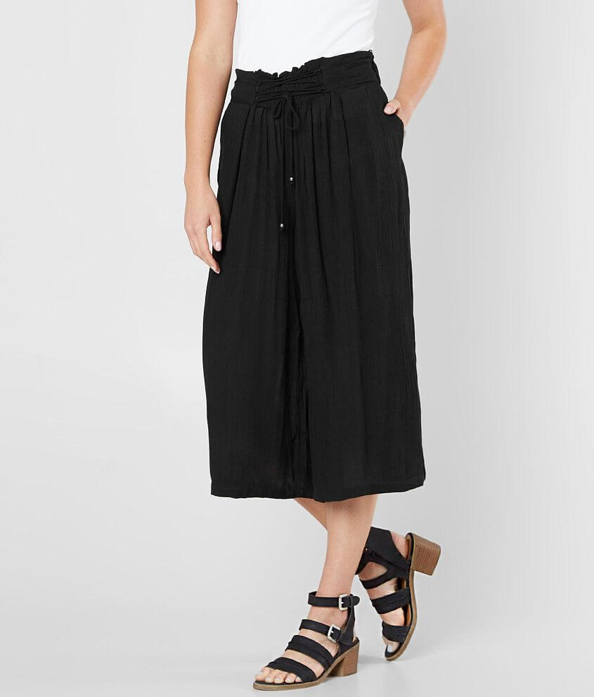 Angie Cropped Wide Leg Pant front view