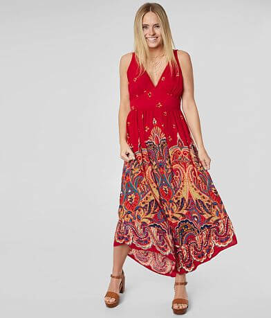 Willow & Root Floral Medallion Maxi Dress