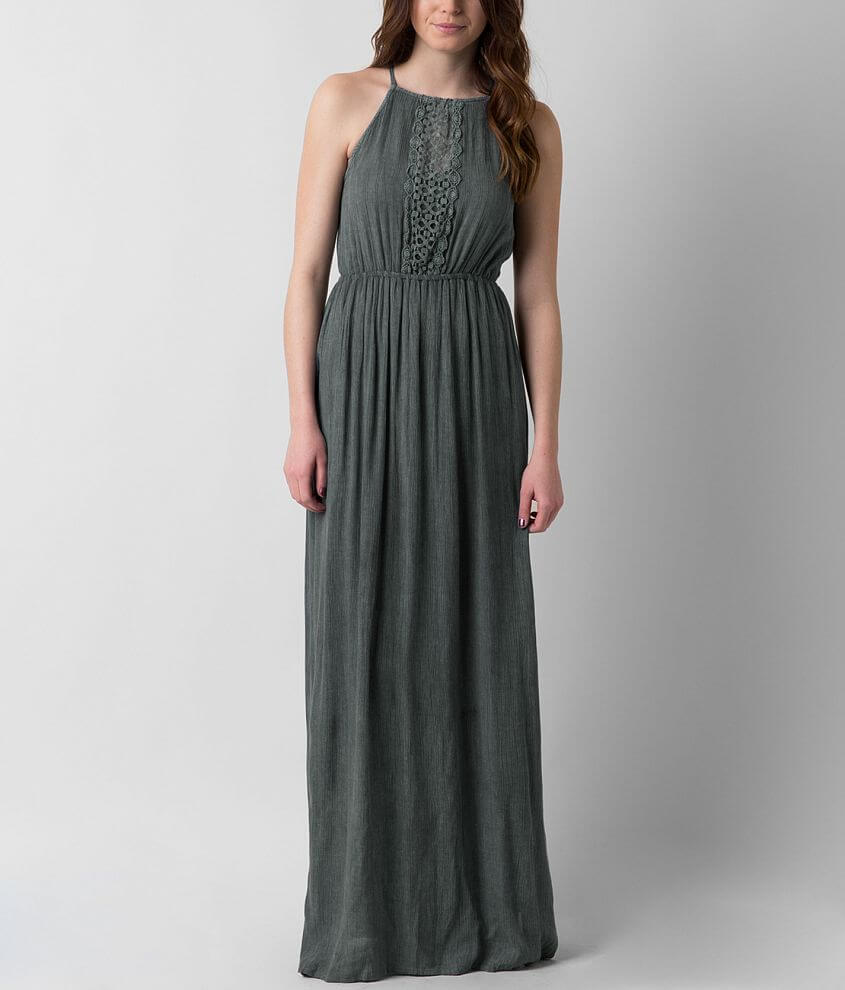 Angie Crochet Maxi Dress front view