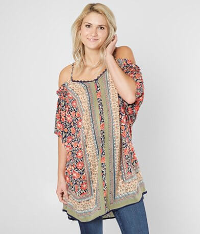 Angie Cold Shoulder Tunic Top