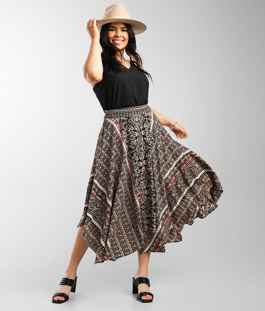 Angie Midi Boho Skirt front view