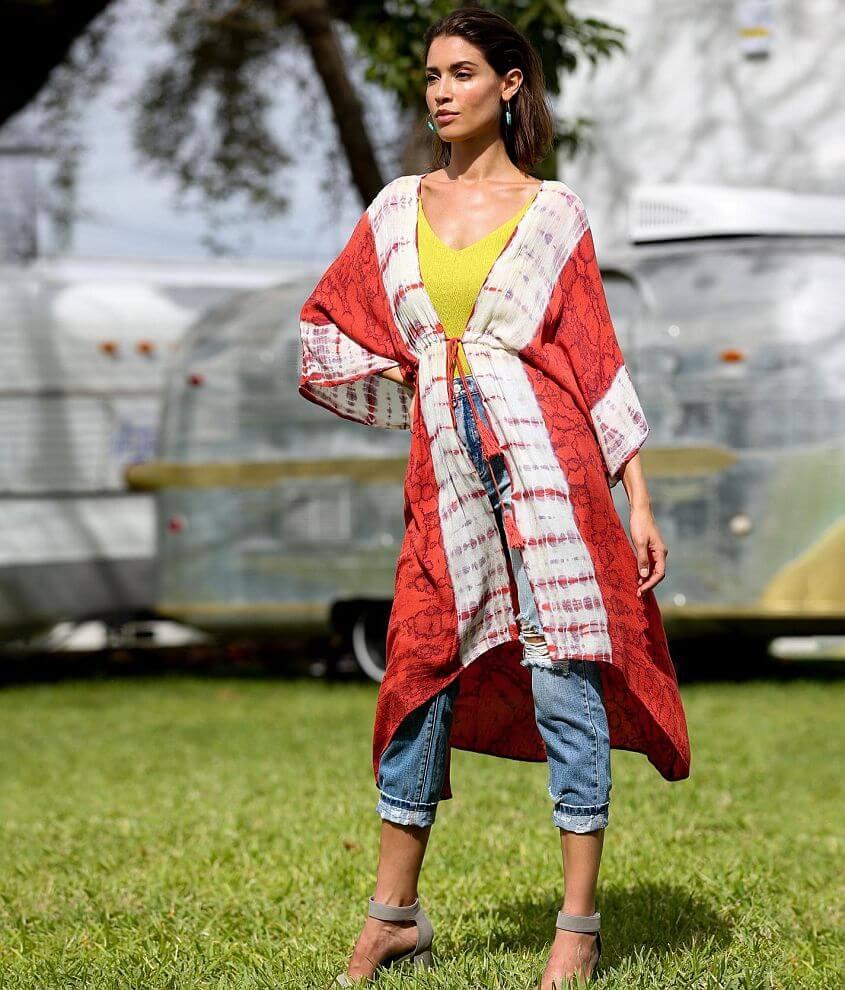Angie Tie Dye Kimono front view