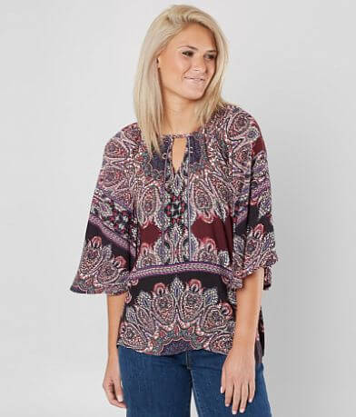 Daytrip Medallion Dolman Top