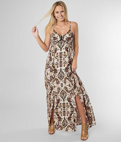 Angie Patterned Maxi Dress