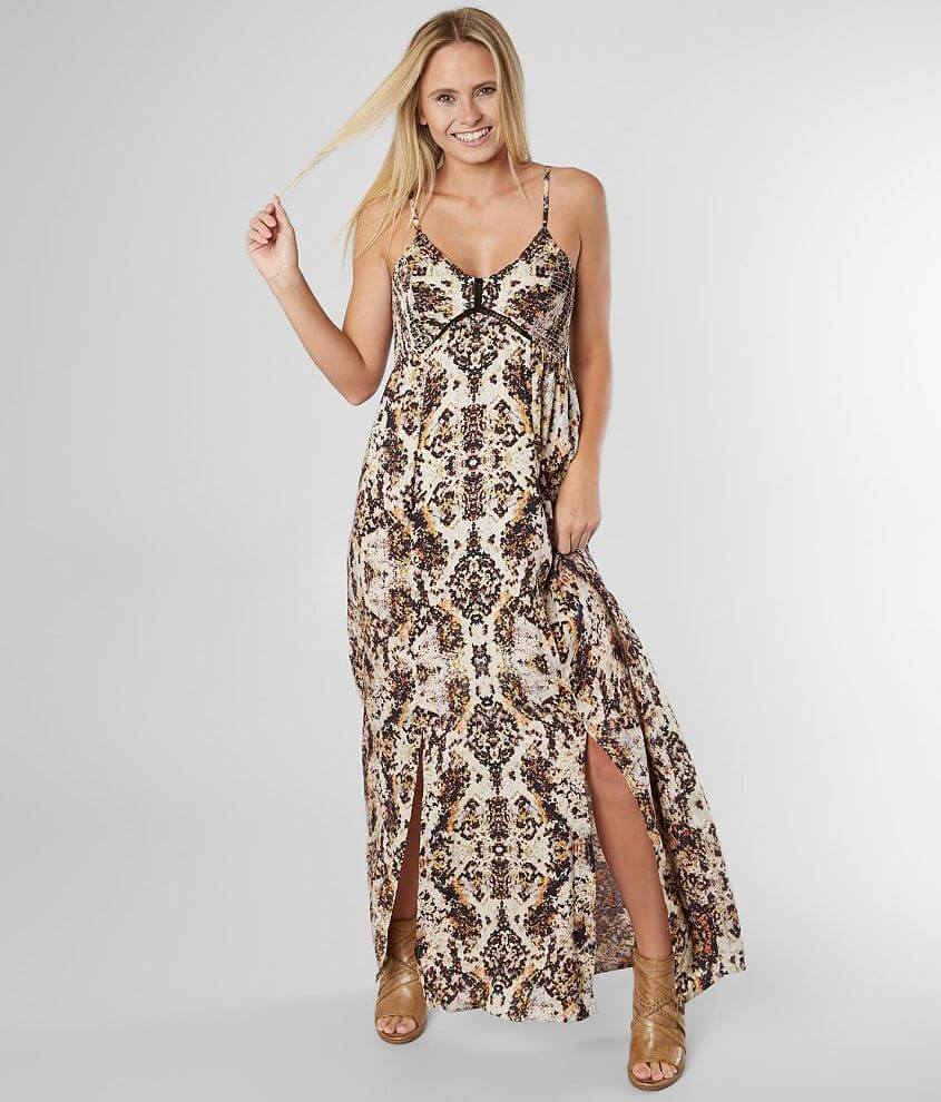 Angie Patterned Maxi Dress front view