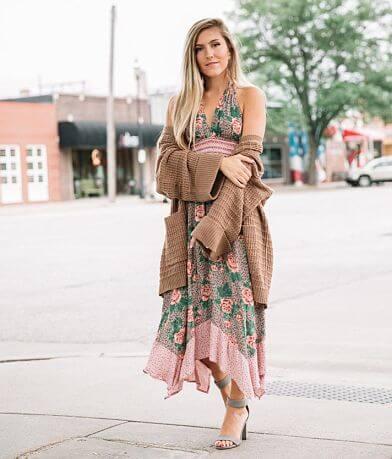 Angie High Neck Maxi Dress