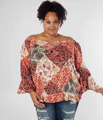Willow & Root Off The Shoulder Top - Plus Size