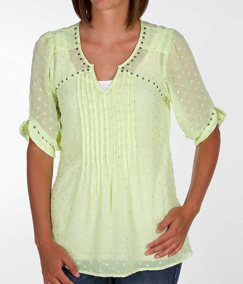 Angie Chiffon Top front view