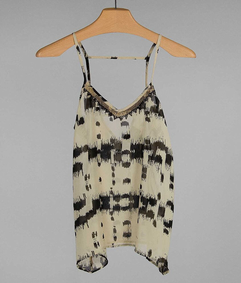 Angie Chiffon Tank Top front view