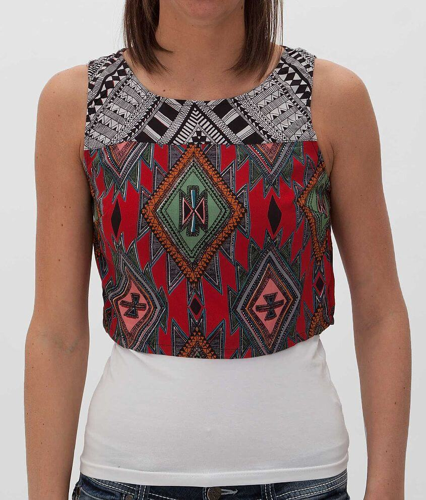 Angie Cropped Tank Top front view
