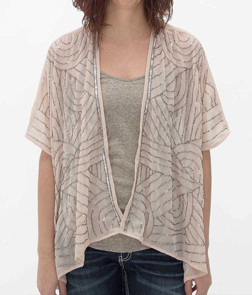 Angie Embellished Cardigan front view