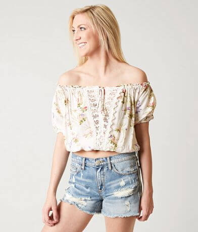 Angie Floral Cropped Top