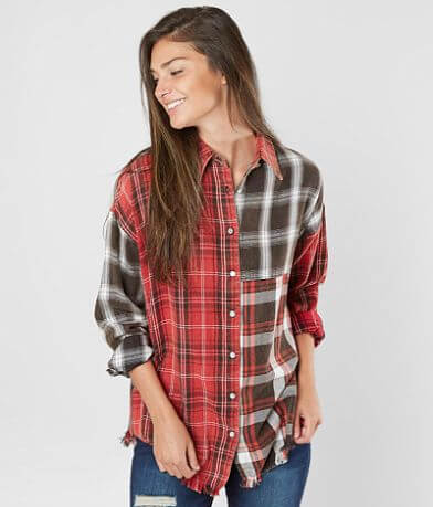 Angie Mixed Plaid Shirt