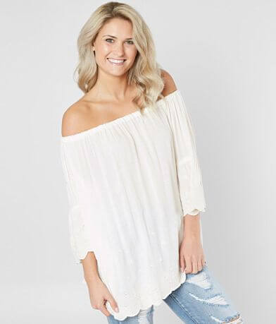 Angie Embroidered Off The Shoulder Top