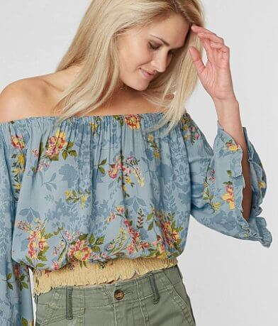 Angie Off The Shoulder Cropped Top