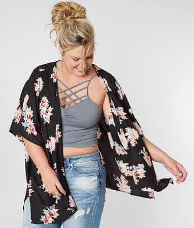 Angie Floral Cardigan - Plus Size Only