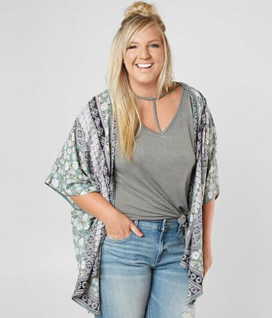 Angie Wallpaper Cardigan - Plus Size Only