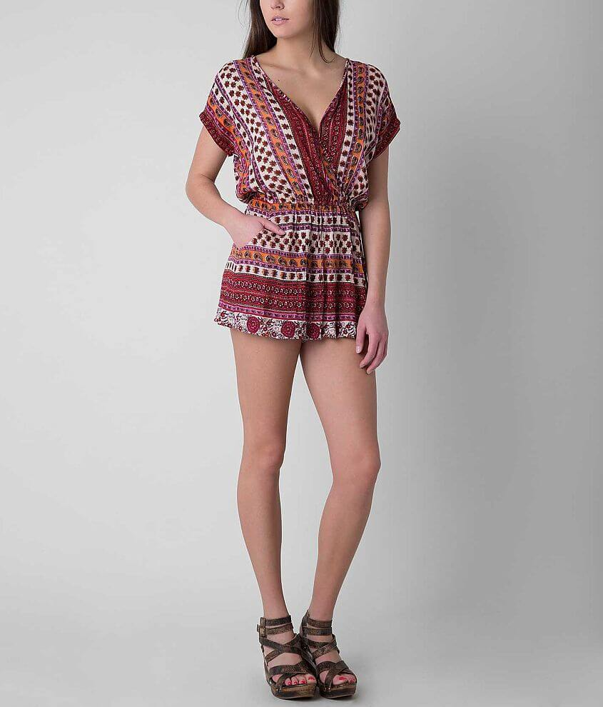 Angie Printed Romper front view
