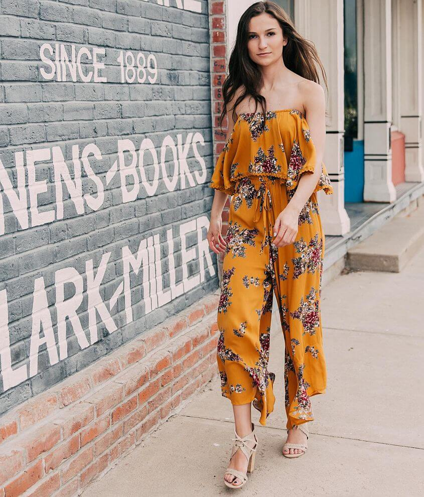 636fe49582c6 Angie Floral Print Sleeveless Jumpsuit - Women s Rompers Jumpsuits ...