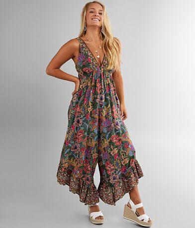 Angie Floral Wide Leg Jumpsuit