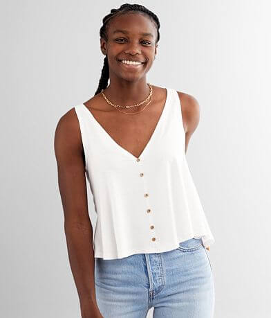 Angie Flowy Double V-Neck Tank Top