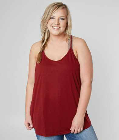 Angie Scoop Neck Tank Top - Plus Size Only