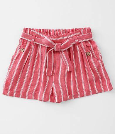 Girls - Angie Striped Paperbag Short