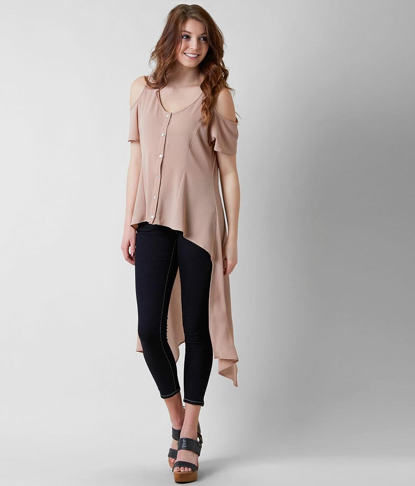 willow & root Cold Shoulder Blouse front view