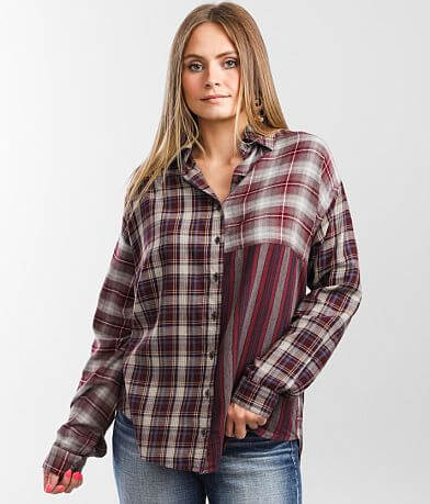 Angie Mixed Plaid Shirt