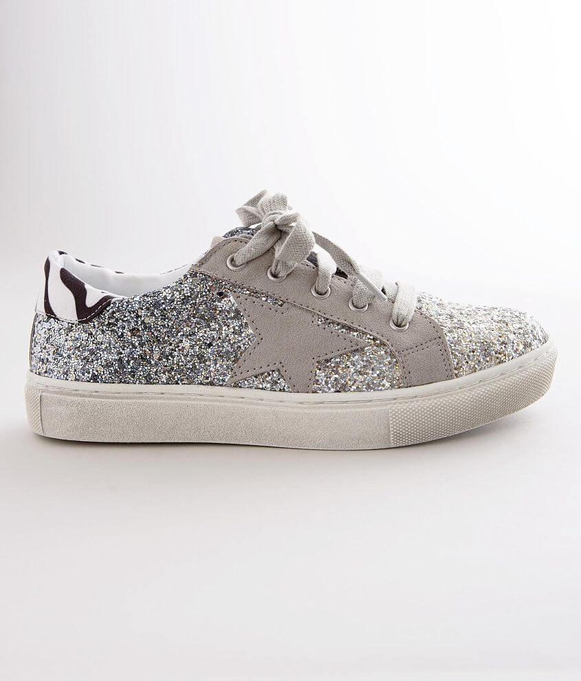 Girls - Steve Madden Rubee Glitter Sneaker front view