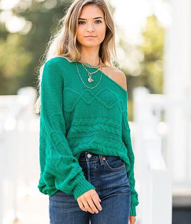 Willow & Root Off The Shoulder Sweater