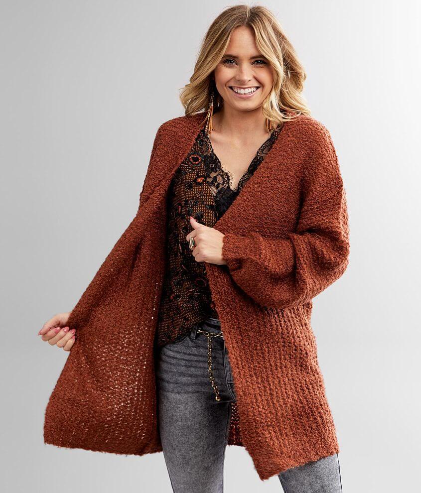 Daytrip Fuzzy Cardigan Sweater front view
