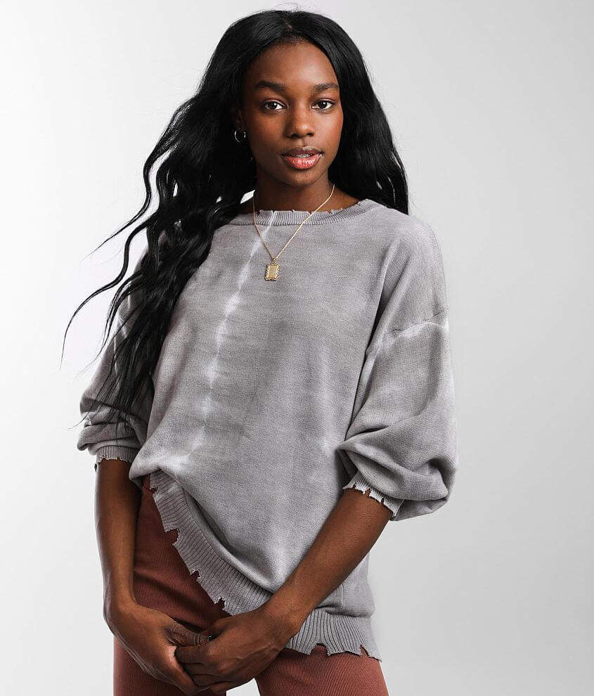 Gilded Intent Tie Dye Pullover Sweater front view