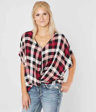 Eyeshadow Checkered Dolman Top