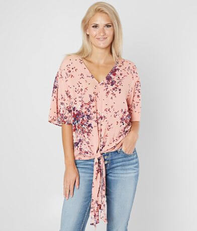 Eyeshadow Floral V-Neck Top