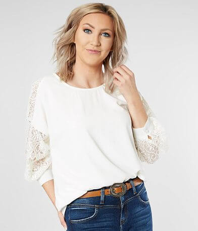 Daytrip Woven High Low Hem Top