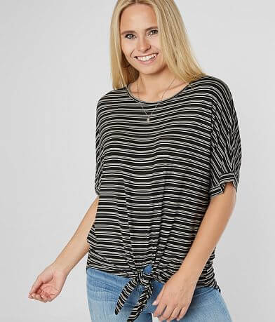 Eyeshadow Knit Front Tie Top